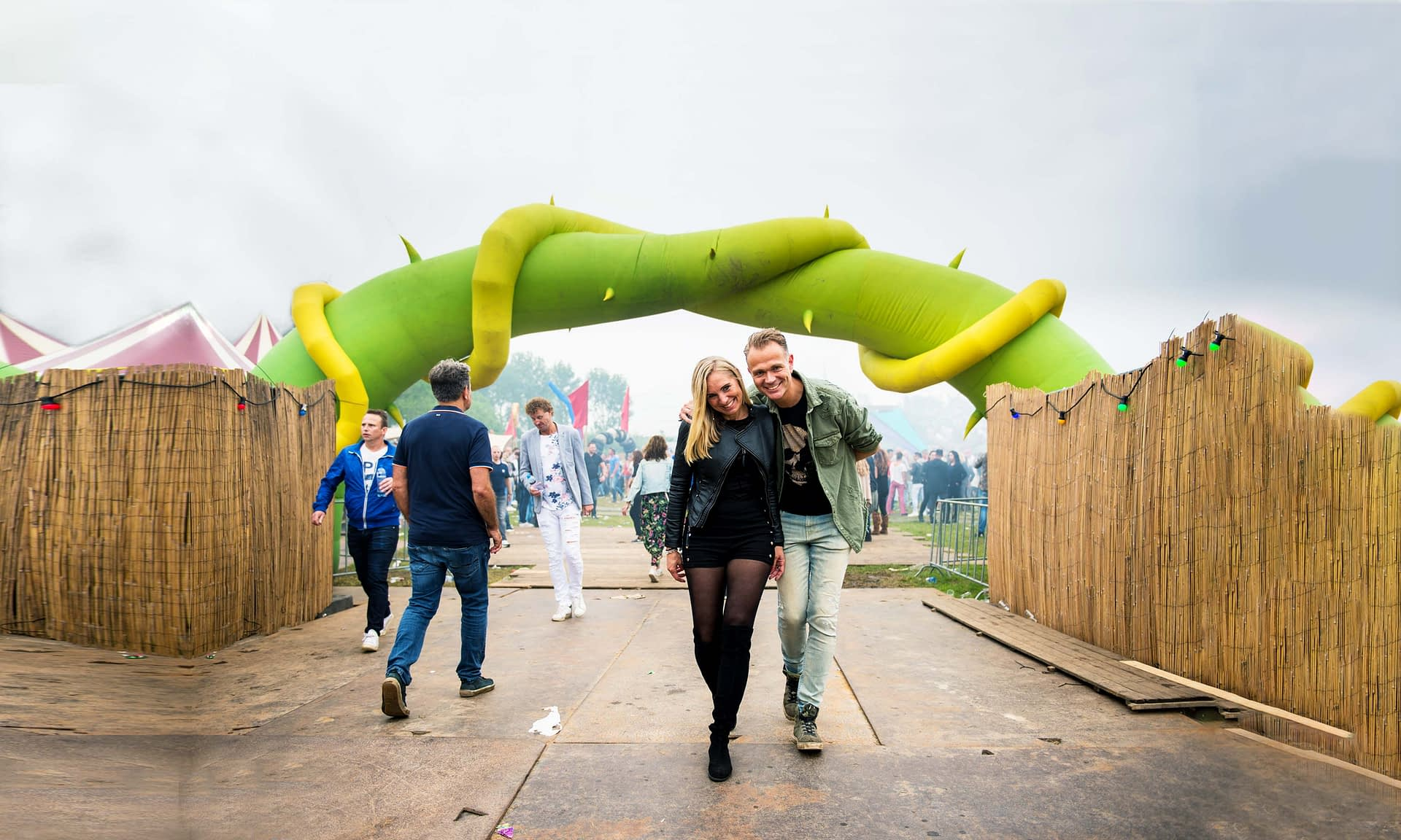 7.4m inflatable plant arch
