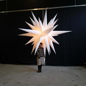 2.8m white christmas star backlit