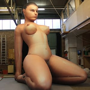 5m inflatable woman nude