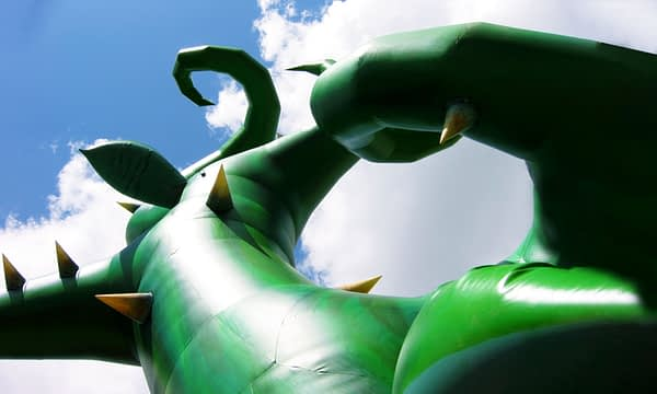 7m inflatable brambles close-up