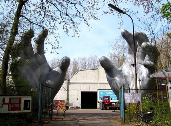 8.3m printed silver hands Airworks Rentals