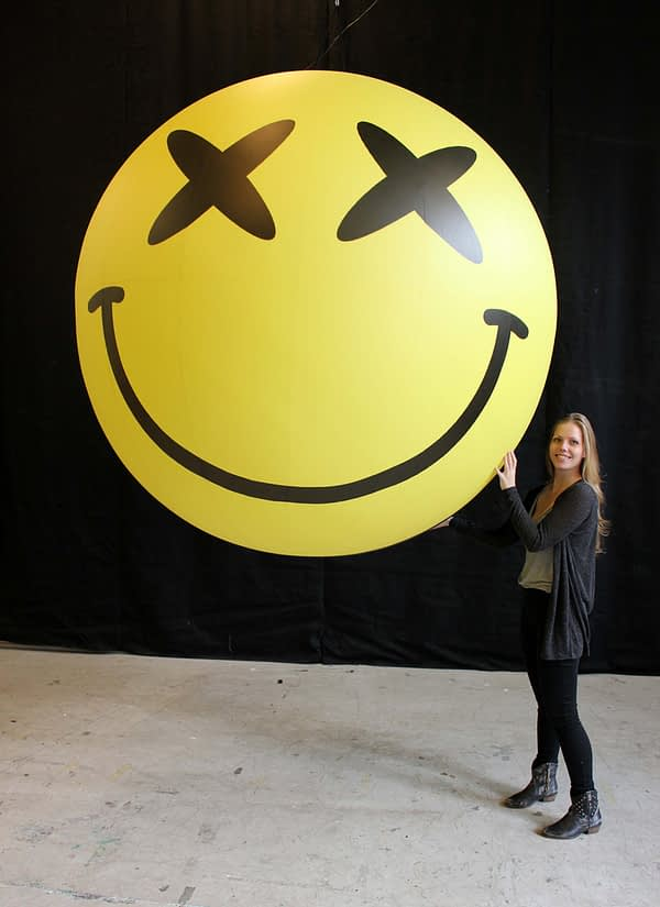 2m smiley face ball bliss eyes Airworks Rentals